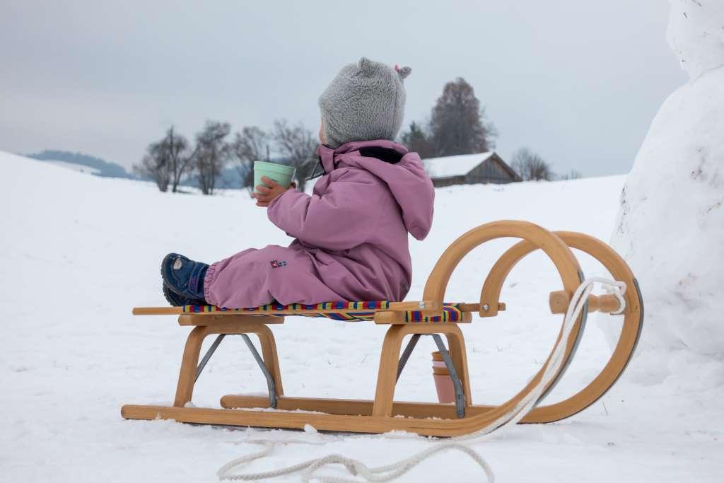 Winterwandern Kinder warme Getränke