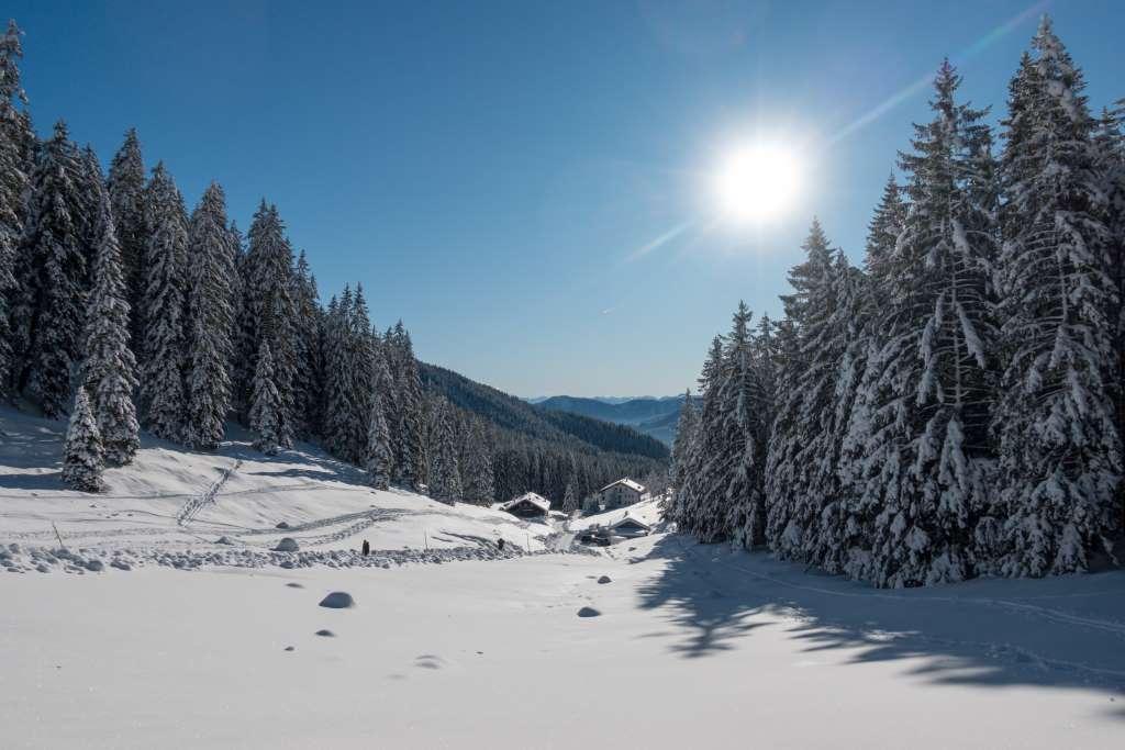 Winterwandern Winterlandschaft