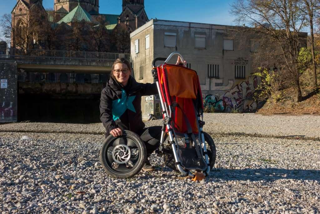 Abnehmbare Räder Outdoor Kinderwagen Hike Kid