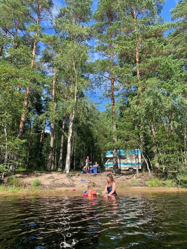 Frei Stehen Camping mit Kindern