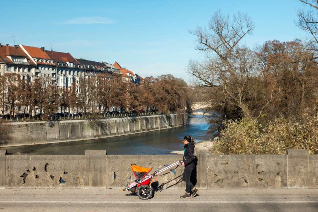 Outdoor Kinderwagen Hike Kid in der Stadt