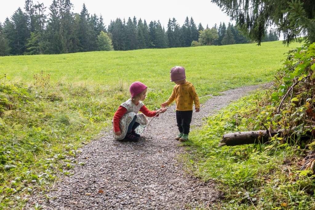 Nachhaltigkeit vorleben beim Wandern mit Kindern
