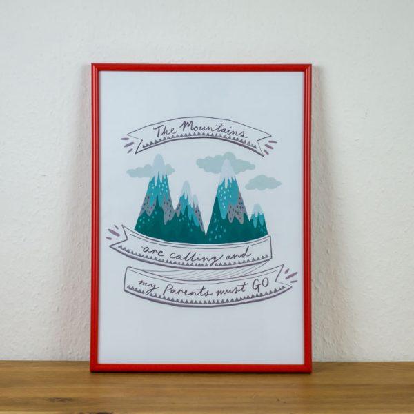 Poster Kinderzimmer Bergliebe Geburt
