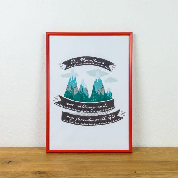 Poster Kinderzimmer Deko Idee Berge