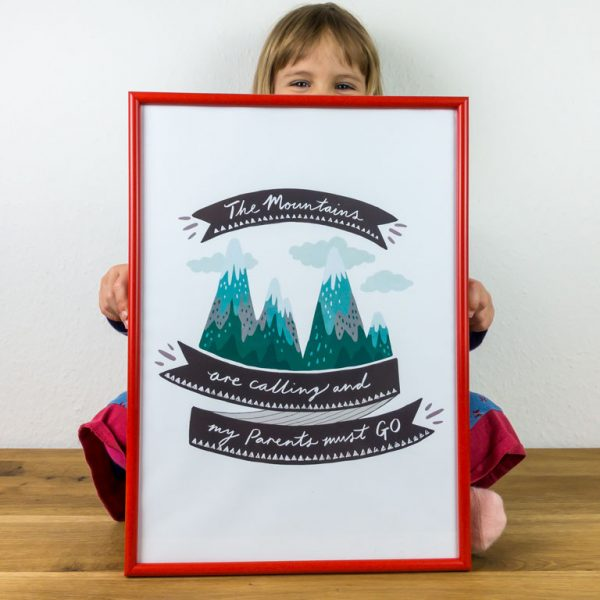 Poster The Mountains are Calling Kinderzimmer