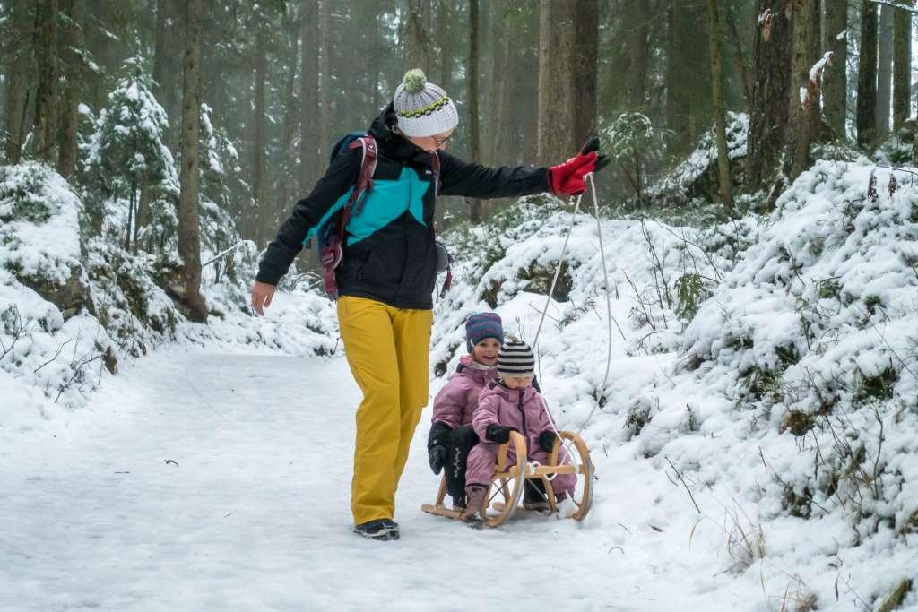 Wandern Winter Kinder Eibsee