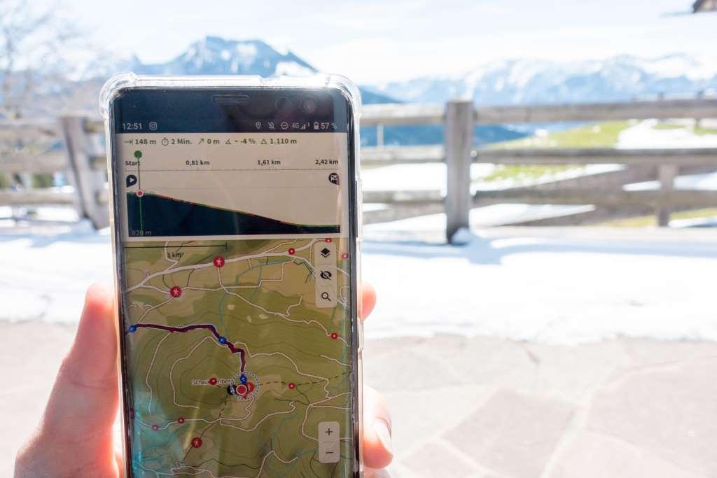 Navigation und Orientierung mit Komoot