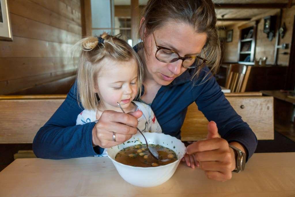 Suppe Hüttentour mit Kindern