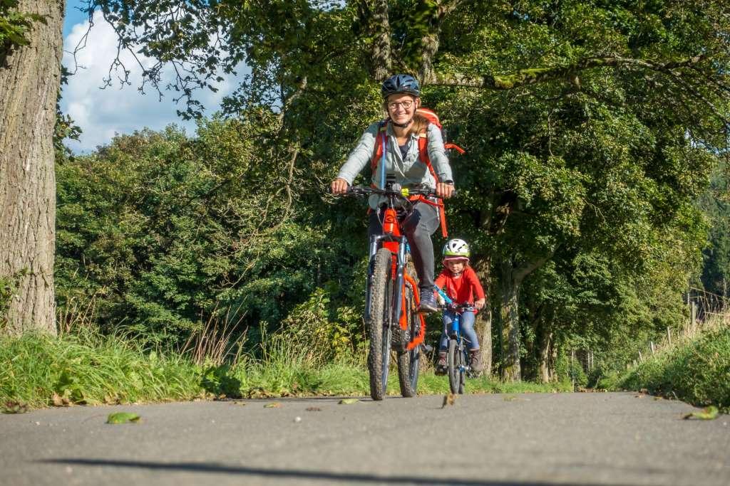 Fahrrad fahren mit Kindern Erzgebirge