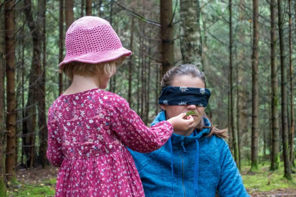 Spielidee Wald riechen